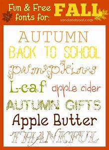 Fun + Free Fonts for FALL - Sand and Sisal