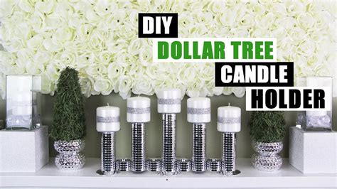 1 Dollar Home Decor : Diy Dollar Tree Candle Holder Diy Home Decor