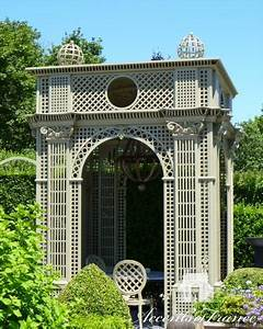 Garden Pavilion With Decorative Sphere