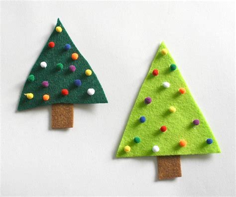 felt christmas craft easy crafts for felt tree pin buggy and buddy