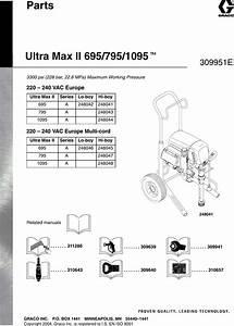 Graco 309951e Ultra Max Ii 695 795 1095 Parts Users Manual