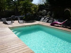 Piscines Semi Enterrées : piscine bois rectangulaire piscines bois enterr es et ~ Zukunftsfamilie.com Idées de Décoration