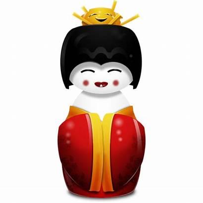 China Icon Geisha Icons Ao Museu Estudo
