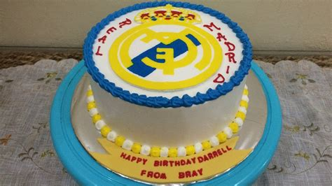 buttercream transfer real madrid cake decorating youtube