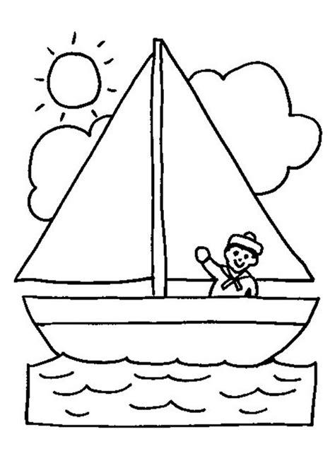 Kleurplaat Boot by Kleurplaat Zeilboot Ontdekkingsreizigers Boten Boot