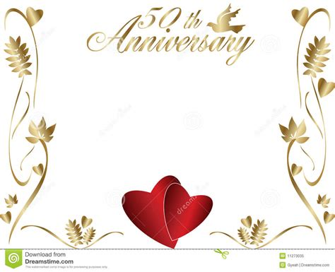 50 wedding anniversary 50th wedding anniversary border royalty free stock photo image 11273035