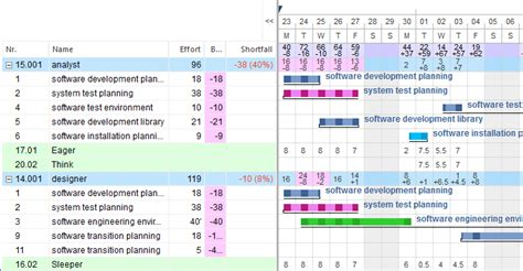 project management software  capacity planning
