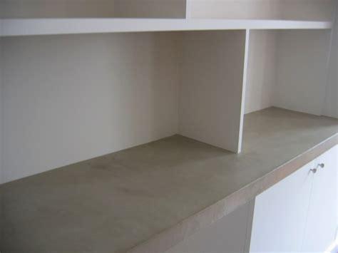 bureau beton cir plateau bureau en béton ciré sofia flore molinaro