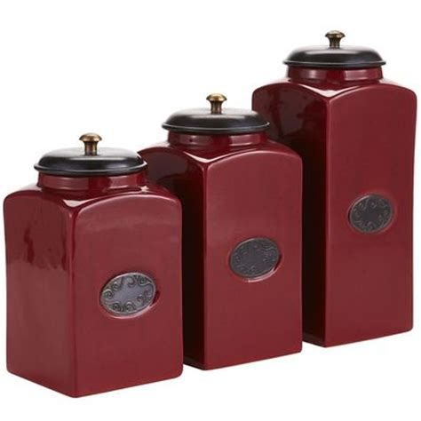 Chadwick Kitchen Canisters Red
