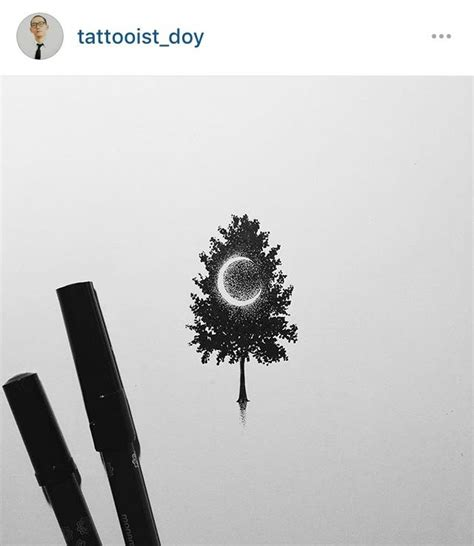 crescent moon  tree tattoo idea tattoos tattoos tattoo designs sketch style tattoos