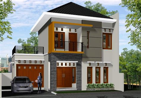 desain rumah mewah minimalis modern  lantai desain