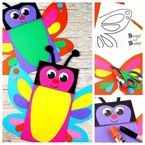 butterfly hand puppet template butterfly paper bag puppets with free template buggy and