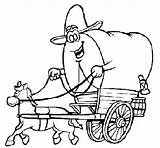Wagon Coloring Cowboy Wheel Getdrawings Coloringcrew sketch template