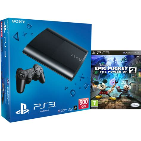 Ps3 New Sony Playstation 3 Slim Console 500 Gb Black