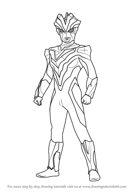 Coloring Ultraman by Gambar Learn Draw Ultraman Victory Step Coloring Pages Di