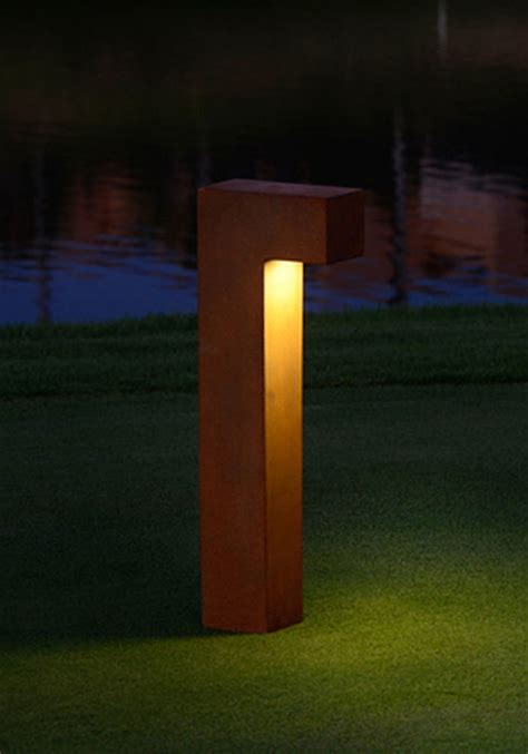 taal l led bollard light contemporary path lights