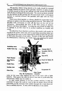 1924 Chevrolet Superior Instructions