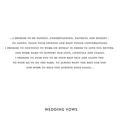 personal wedding vows snippet ink