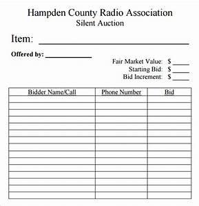 7 silent auction bid sheet samples sample templates With bid sheets for silent auction template