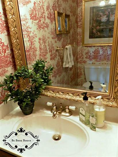Toile Powder Bathroom French Country Bound Pride