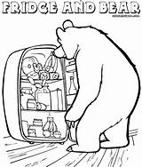 Refrigerator Coloring Pages Drawing Colorings Getdrawings sketch template
