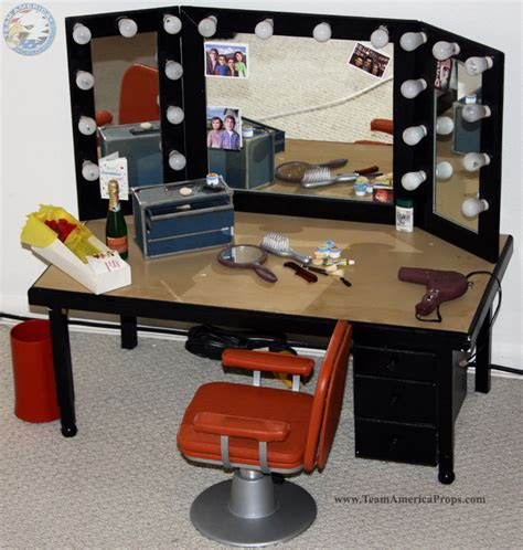 see through makeup desk gary 39 s make up desk and mirror from his dressing room from