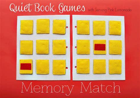 simple quiet book series memory match game  create