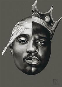Biggie & Tupac Portrait | MyPseudonym