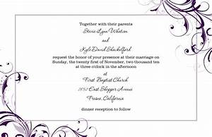 wedding invitation template rectangle landscape white With wedding invitation wording samples pdf