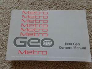 1990 Geo Metro Owners Manual User Guide Reference Book
