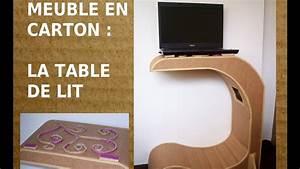 table de lit en carton comment fabriquer un meuble en With comment faire des meubles en carton