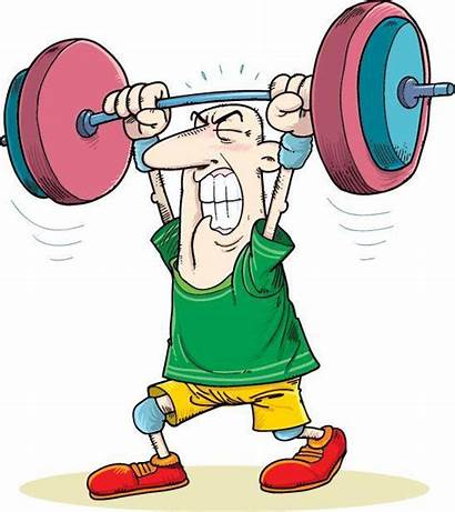 Weightlifting Weight Olympic Lifting Humor Cartoon Weights
