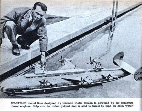 Model Boat Jet Engine by Jet Styled Model Liner Modern Mechanix