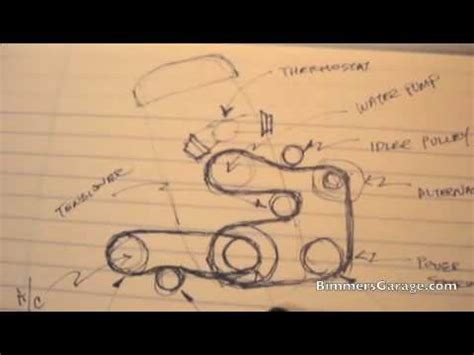 bmw serpentine ac belts diagram   youtube