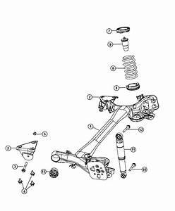 2013 Fiat 500x Shock Absorber  Suspension  Rear  Module