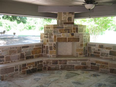 fort worth burleson covered patio outdoor fireplace and