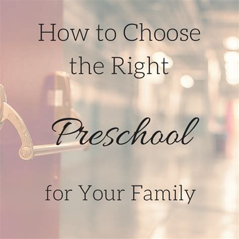 how to choose a preschool program for your family 333 | How to Choose a preschool program