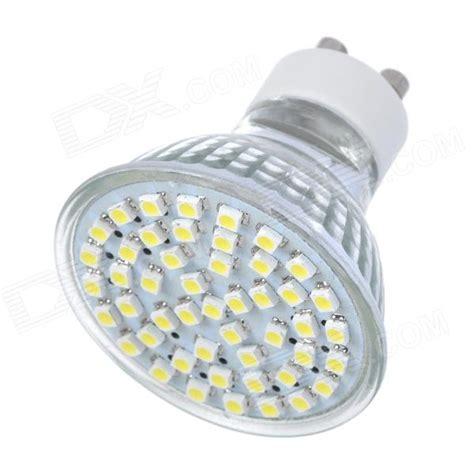 gu10 2 8w 300lm 7000k white 48 smd 3528 led light bulb silver 220v free shipping dealextreme