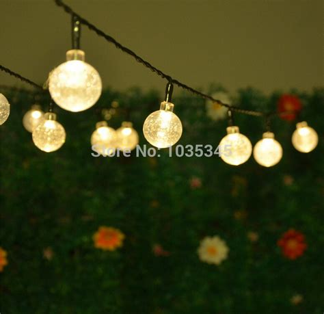 20 led solar powered outdoor string lights