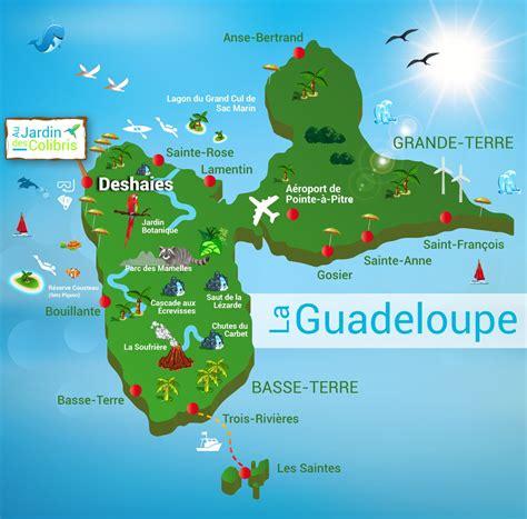 cuisine de la guadeloupe carte de la guadeloupe carte du département et de la région