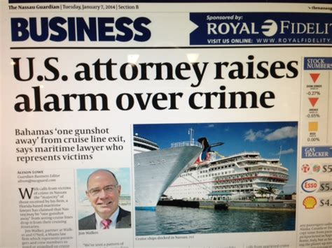 2015 Bahamas Crime Report Armed Robbery And Sexual Assaults Increasing  Cruise Law News