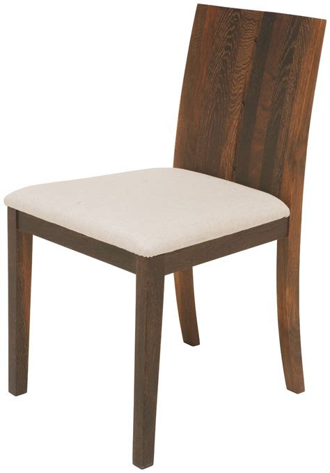 beige fabric and seared wood dining chair from nuevo