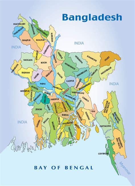 bangladesh map  districts