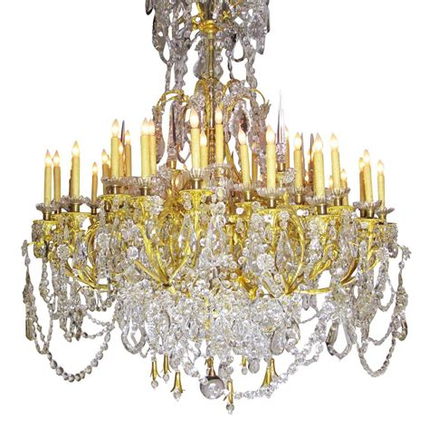 large louis xv style gilt bronze and baccarat chandelier