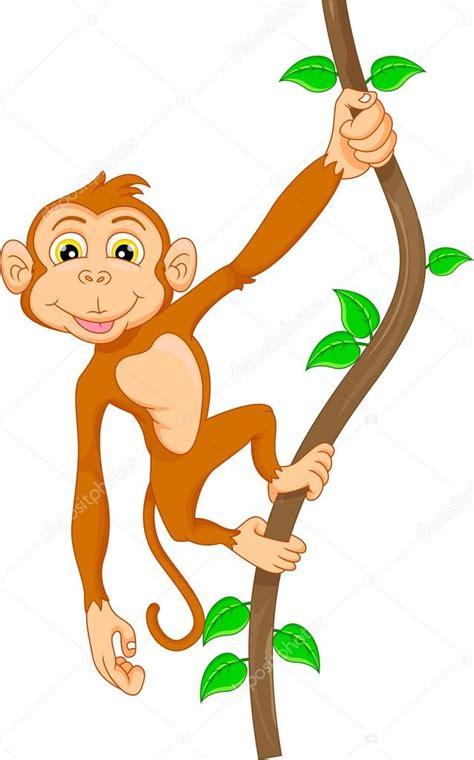 hanging file frame singe de dessin animé accroché dans l 39 arbre image