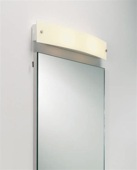 Curved Bathroom Mirror by Astro Curve Bathroom Frosted Curved Glass Mirror Light