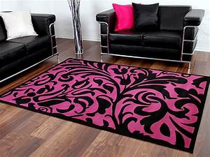 designer teppich passion schwarz lila barock teppiche With balkon teppich mit barock tapete violett