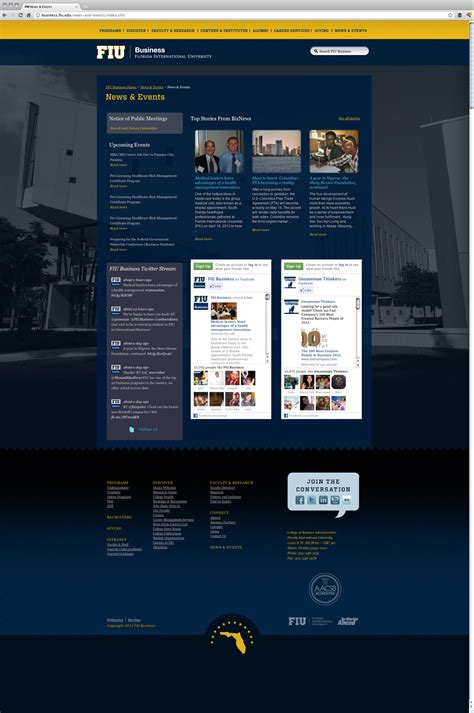 fiu business website design   media