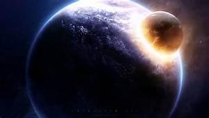Planets crash cataclysm space Greg Martin wallpaper ...
