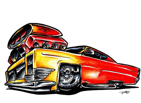 muscle cars cartoon clipart